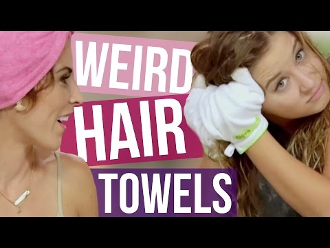 3 Weird Hair Drying Towels (Beauty Break)