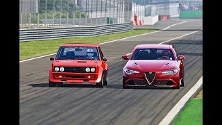 Alfa Romeo Giulia Quadrifoglio vs Fiat Abarth 131 Monster