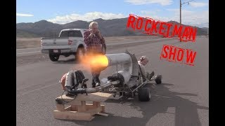 Rocketman MOST POWERFUL PULSEJET GOKART IN THE WORLD!