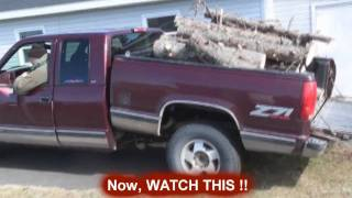 Chevy pickup with dump box