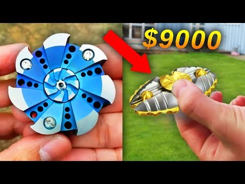 $1 FIDGET SPINNER Vs. $1000 ULTIMATE FIDGET SPINNER!!