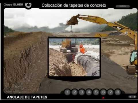 Tapetes de concreto flexible, una buena solución a desbordamientos de ríos
