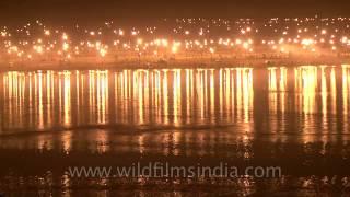 Ganga Aarti on the eve of Maha Shivratri in Allahabad