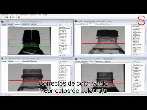 Inspector de tapones mediante visión artificial usando 4 cámaras y diferentes algoritmos