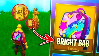 """How To Unlock *NEW* """"Bright Bag"""" RARE in Fortnite Battle Royale (Rainbow backpack gameplay)"""