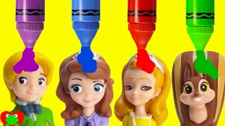 Learn Colors with Sofia the First Bath Time Fun and Surprises