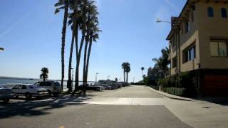 MARINA DEL REY - DRIVE TOUR - ADMIRALTY WAY & PACIFIC AVE - WITH MUSIC