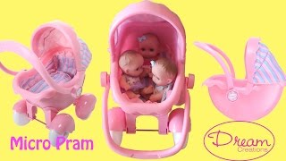Dream Creation Micro Pram Little girl Bad Mummy Play with Baby Dolls Baby Annabell Lil Cutesies