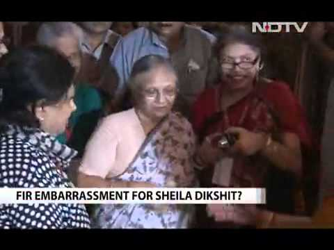 Delhi chief Minister Sheila Dikshit faces FIR, government challenges court order Video