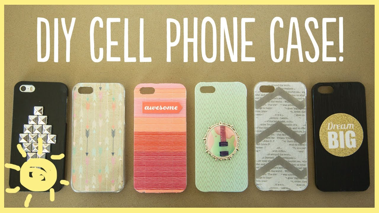 Diy cell phone case youtube for Diy custom phone case