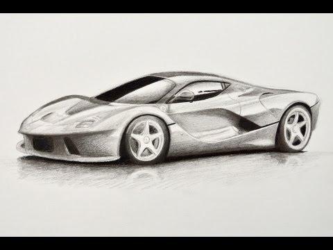 Cómo dibujar un Ferrari - Cómo dibujar un carro
