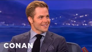 Chris Pine Has Some Seriously Big Eyebrows - CONAN on TBS