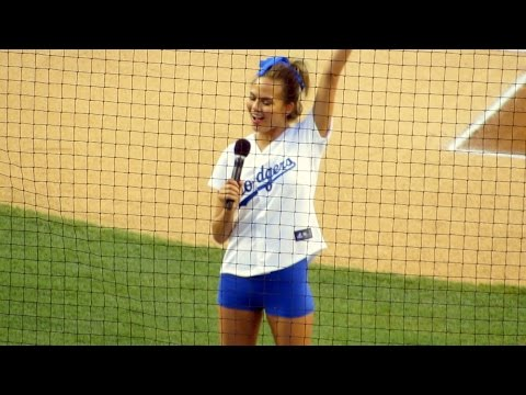 "Supermodel Chrissy Teigen ""Time for Dodger Baseball"" Announcement After First Pitch"