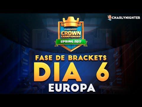 CROWN CHAMPIONSHIP | DIA 6 | FASE DE BRACKETS | REGION EUROPA | CLASH ROYALE thumbnail