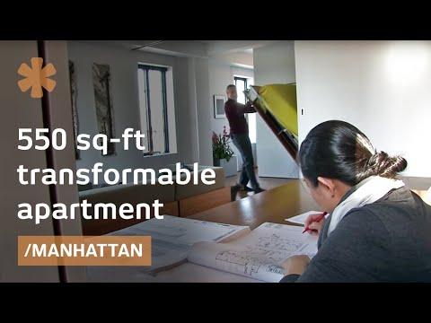 "NYC ""Swiss Army knife"" apartment s walls open, fold & slide"