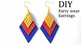 DIY Easy-To-Make Party Wear Earrings That Matches With Your Outfit | Jewellery Making Tutorial