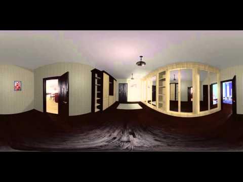 360° видео дизайна квартиры для виртуальной реальности