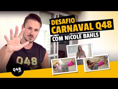 Como emagrecer para o Carnaval Treino de 5 minutos com Nicole Bahls