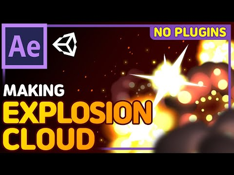 Game VFX Tutorial - Explosion Cloud with AfterEffects [For Unity / No Plugins / Eng&Kor Sub]
