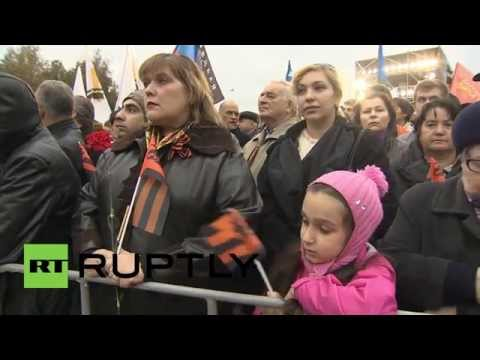 Russia: Moscow rally honours victims of Ukraine conflict