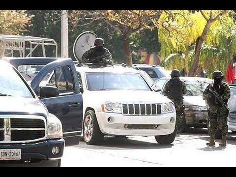 """Graban Fuerte Balacera """"Sicarios del El Chapo Guzman Vs Policia Federal"""" Reynosa Puente Broncos"""