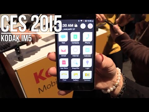 Kodak IM5. Prosty smartfon z Androidem dla starszych - CES 2015   Komputer Świat