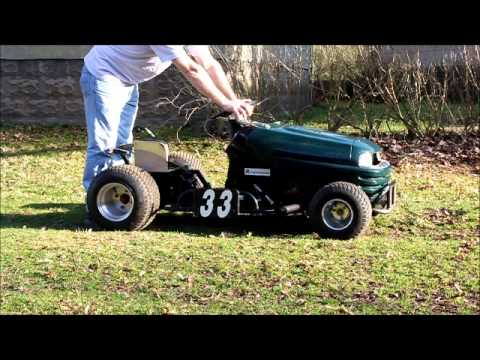 Briggs V Twin Racing Mower - YouTube