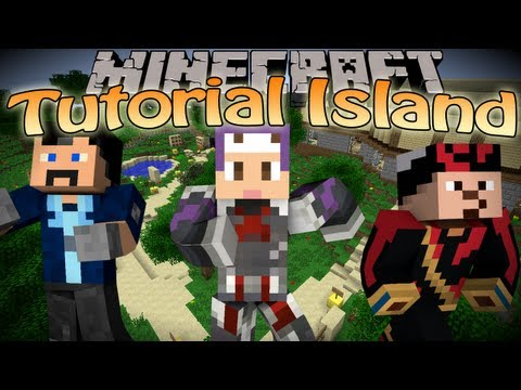 Minecraft Tutorial Island w/Podcrash & Isaac (400th video Special)