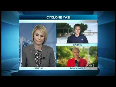 [CYCLONE WATCH] Ten News Queensland: Cyclone Yasi Coverage (1.2.2011)