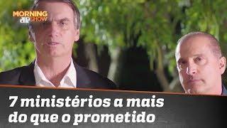 Bolsonaro terá 7 ministérios a mais que o prometido. Pode isso, Caio Coppolla?