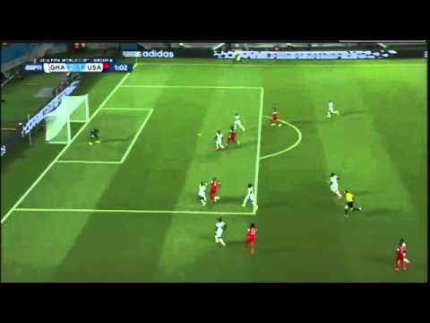 Clint Dempsey Goal 0 45! Ghana vs  USA 1-0 ~ FIFA World Cup
