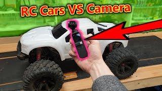DJI Osmo Pocket VS RC Cars + 60mph RC Jump = Destruction!!