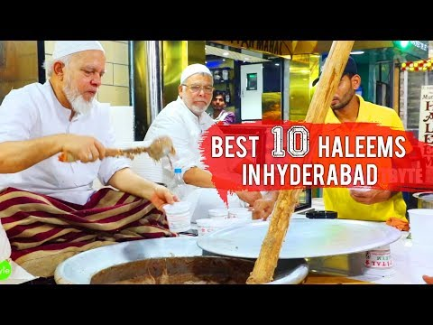 BEST 10 HALEEMS IN HYDERABAD | HALEEM HUNGAMA | Indian Street Food