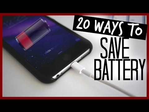 20 Ways How To SAVE BATTERY On iPhone