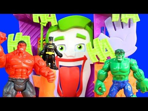 Imaginext Superman Justice League Rescue Batman Robin And Cyborg From Villians