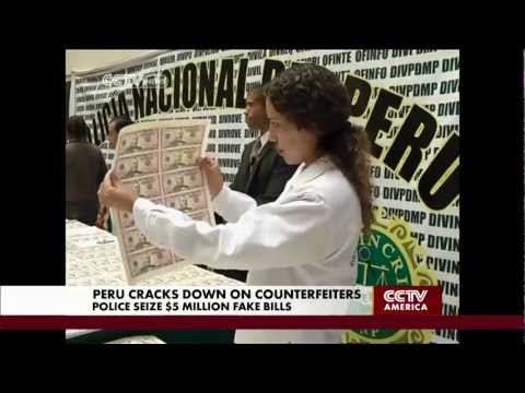 Counterfeiting U.S. Dollars Becomes Big Business is Peru