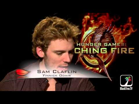 Catching Fire interviews w/ Sam Claflin and Jena Malone