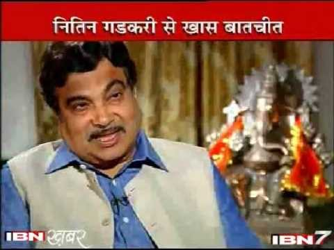 Nitin Gadkari interview by Rajdeep Sardesai - IBNKhabar