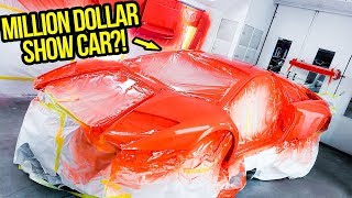 My UGLY Fast & Furious Lamborghini Gets Painted Like A *MILLION DOLLAR SHOW CAR!*