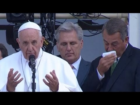 After Announcing Resignation John Boehner Cries Again Over Pope Francis