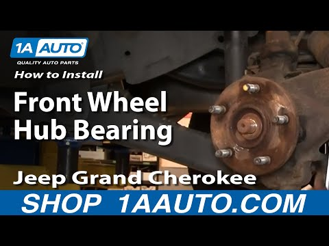 How To Install Replace Front Wheel Hub Bearing Jeep Grand Cherokee 99-04 PART 1 1AAuto.com