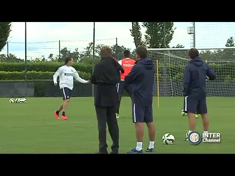 ALLENAMENTO INTER REAL AUDIO 08 07 2014