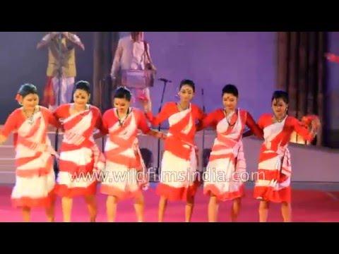 Assam's Bagania or jhumur Dance at Sangai in Manipur