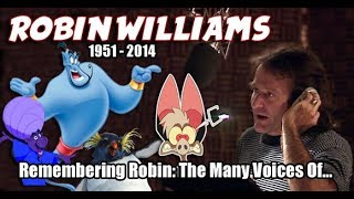 Many Voices of ROBIN WILLIAMS (Animated Tribute) HD High Quality
