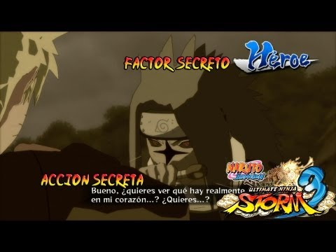Naruto Shippuden: Ultimate Ninja Storm 3 - Naruto Vs Sasuke (Heroe) Accin Secreta y Factor Secreto Rasengan Bermellon Vs Lamento Chidori