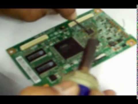 Como consertar TV LCD Samsung sem imagem ou com imagem borrada. negativa. espelhando ou sem foco.