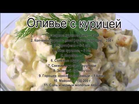 оливье с курицей рецепт с фото