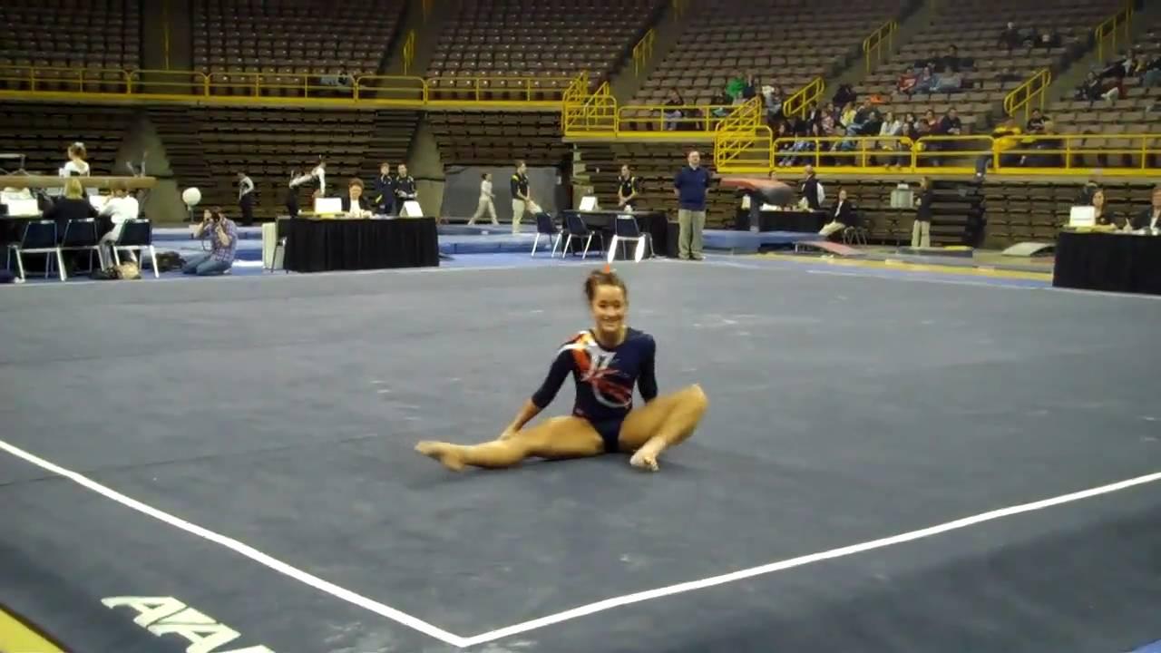 Melissa Fernandez Floor Illinois Gymnastics Iowa Youtube