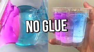 Testing VIRAL NO GLUE SLIMES! How to make DIY NO GLUE slimes, WATER SLIME & DIY one ingredient slime