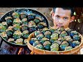 Survival Skill Cooking Snails with pork for Food Eating Delicious